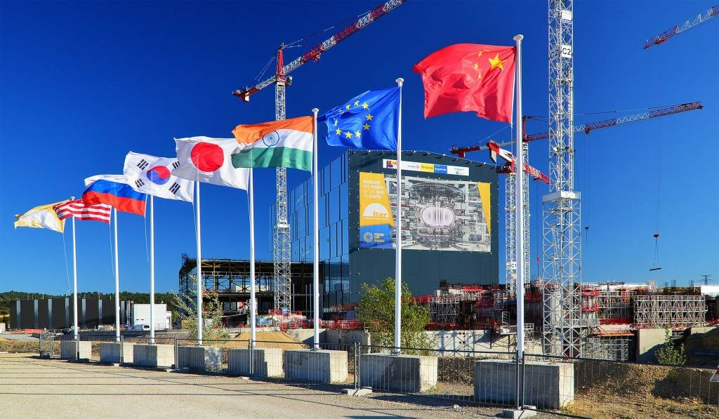 ITER Organization and partner flags