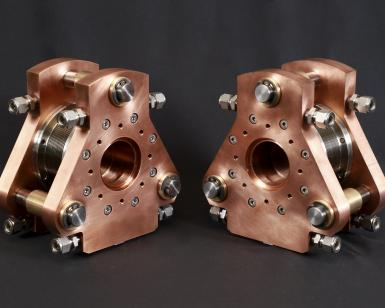 Electron cyclotron expansion unit prototypes manufactured by ARMEC and TELEDYNE