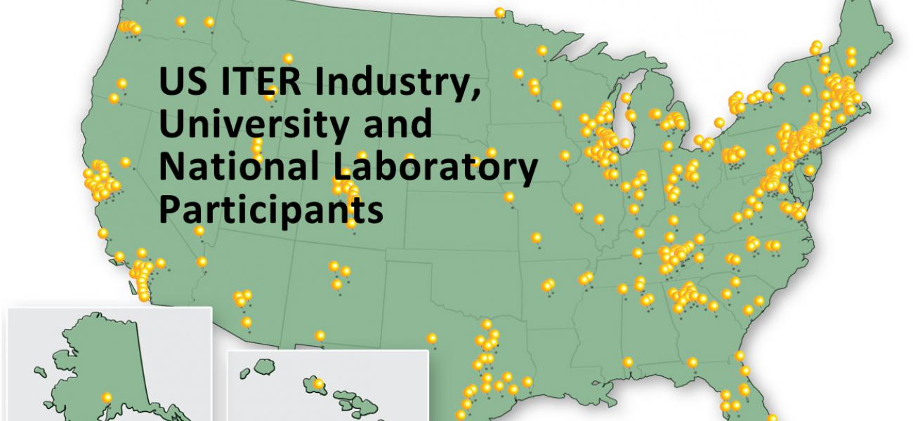 US ITER Participants Pin Map